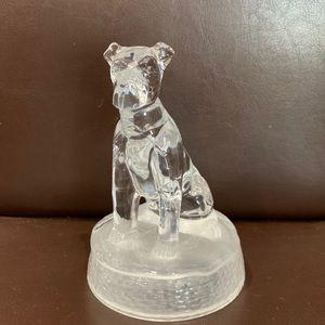 Cristal D'Arques Glass Dog Figurine